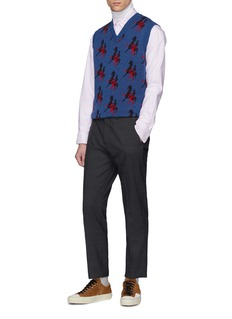 Acne Studios Ohio Face表情徽章条纹牛津布衬衫