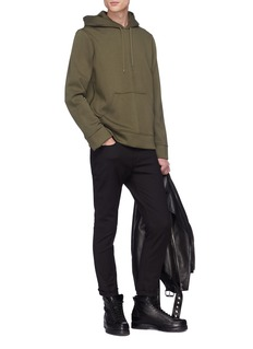 NEIL BARRETT 标语印花潜水布连帽卫衣