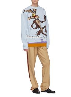 Calvin Klein 205W39NYC x Looney Tunes™ Ralph Wolf图案初剪羊毛针织衫