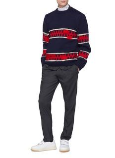 Calvin Klein 205W39NYC 拼色条纹羊毛混马海毛针织衫
