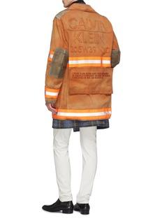 Calvin Klein 205W39NYC Fireman金属钩扣绒面皮拼接纯棉夹克