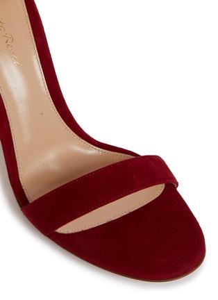 细节 - 点击放大 - GIANVITO ROSSI - Portofino搭带绒面真皮高跟凉鞋