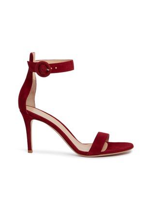 首图 - 点击放大 - GIANVITO ROSSI - Portofino搭带绒面真皮高跟凉鞋