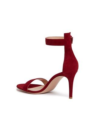 模特儿示范图 - 点击放大 - GIANVITO ROSSI - Portofino搭带绒面真皮高跟凉鞋