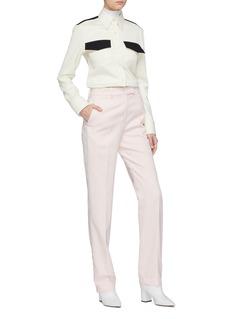Calvin Klein 205W39NYC 拼色设计初剪羊毛斜纹布衬衫