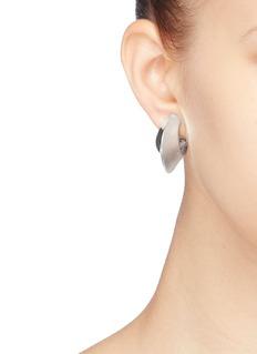 KENNETH JAY LANE 几何圆环镀银夹耳式耳环