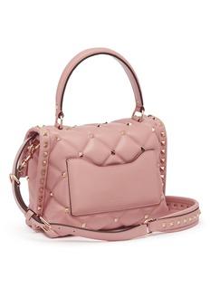 VALENTINO Candystud铆钉绗缝小羊皮手提包