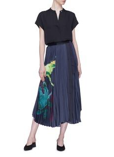 Patricia Iglesias 植物印花仿包裹式百褶半身裙