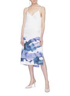 Patricia Iglesias 植物图案包裹式吊带裙