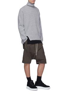 Rick Owens DRKSHDW Pod抽绳纯棉低裆短裤