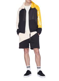Daniel Patrick 品牌标志拼色防风衣