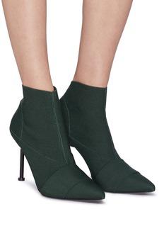 MERCEDES CASTILLO Kera High拼接设计斜纹布高跟短靴