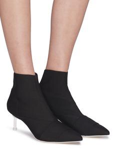 MERCEDES CASTILLO Kera Mid拼接设计斜纹布高跟短靴