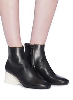 MERCEDES CASTILLO Kyler拼色坡跟真皮短靴