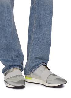 BALENCIAGA Race Runner太空棉拼接反光真皮运动鞋