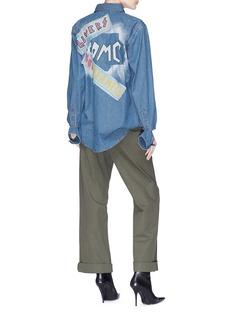 FORTE COUTURE 英文标语拼贴牛仔衬衫