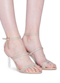 SOPHIA WEBSTER Rosalind三重搭带仿水晶珠饰闪粉高跟凉鞋
