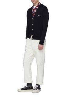 MAISON KITSUNÉ 品牌标志徽章初剪羊毛针织外套