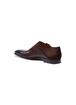 细节 - 点击放大 - Magnanni - 绒面真皮拼接搭扣僧侣鞋