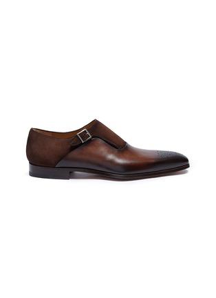 首图 - 点击放大 - Magnanni - 绒面真皮拼接搭扣僧侣鞋