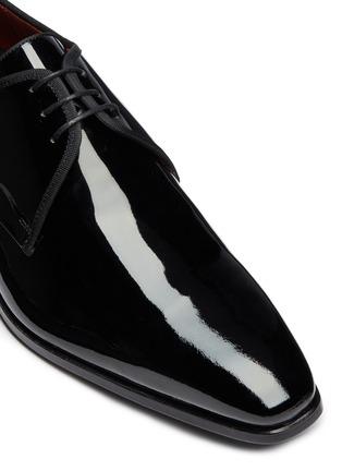 细节 - 点击放大 - MAGNANNI - 系带漆皮德比鞋