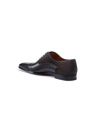 细节 - 点击放大 - MAGNANNI - 绒面真皮拼接系带牛津鞋