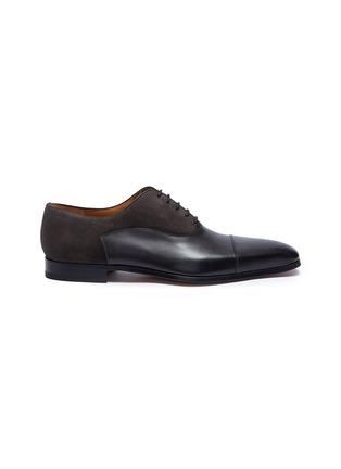 首图 - 点击放大 - Magnanni - 绒面真皮拼接系带牛津鞋