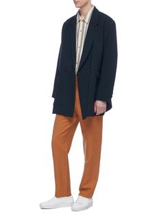 ETHOSENS 双排扣羊毛长款西服夹克