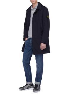STONE ISLAND 可拆式品牌标志徽章夹棉大衣