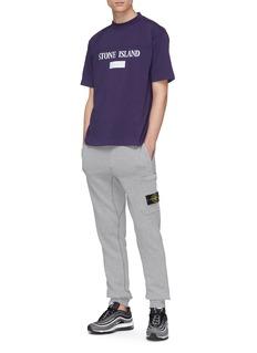 STONE ISLAND 反光品牌名称及条纹纯棉T恤