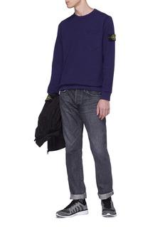 STONE ISLAND 可拆式品牌标志徽章纯棉口袋卫衣