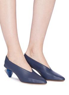 Gray Matters Diamante钻石形鞋跟真皮奶奶鞋