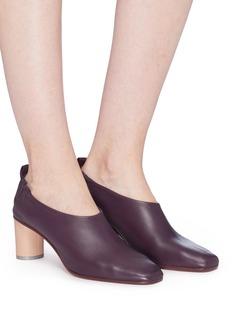 Gray Matters Micol拼色粗跟真皮方头鞋