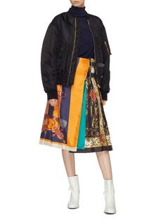 TOGA ARCHIVES 印花丝巾拼接包裹式半裙