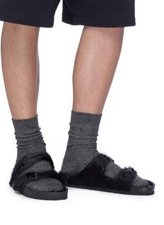 Rick Owens x BIRKENSTOCK  Arizona牛毛双重搭带凉鞋