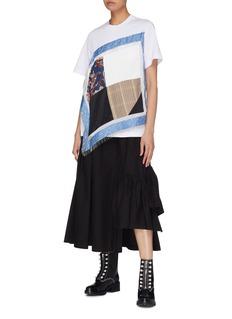 3.1 PHILLIP LIM 褶裥布饰不对称纯棉半身裙