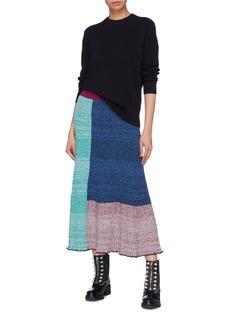 3.1 PHILLIP LIM 拼接设计木耳边罗纹针织半裙