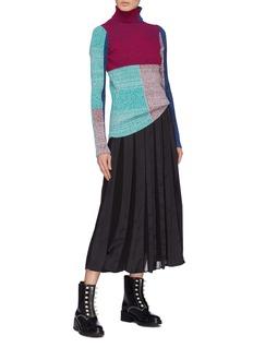 3.1 PHILLIP LIM 拼色设计高领罗纹针织衫
