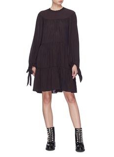 3.1 PHILLIP LIM 系带泡泡袖层叠褶裥连衣裙