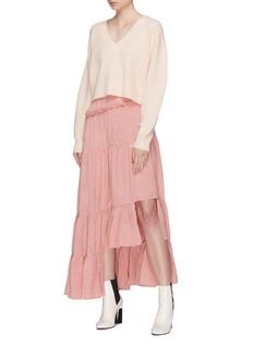 3.1 PHILLIP LIM 褶裥荷叶边切割下摆半裙