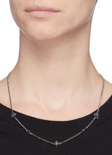 Alexander McQueen 仿水晶骷髅头缀饰项链