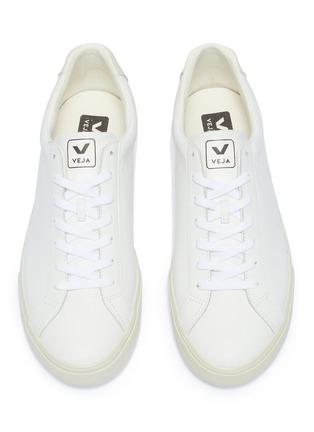 细节 - 点击放大 - Veja - Esplar V字真皮运动鞋