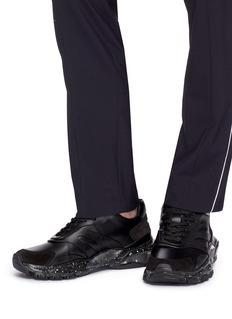 Valentino Bounce泼墨效果透明鞋底真皮运动鞋