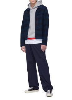 Marni 车缝线口袋条纹牛仔夹克