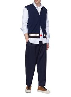 Marni 拼接设计条纹府绸衬衫