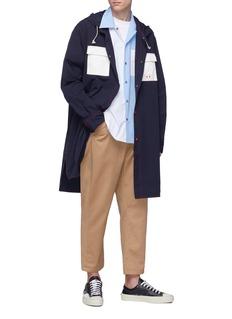 Marni 拼色口袋连帽派克大衣