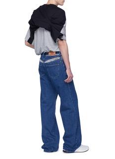 Y/Project 中性款切割镂空背面阔腿牛仔裤