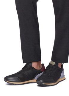 Valentino Camouflage Rockrunner绒面真皮拼接网眼布运动鞋