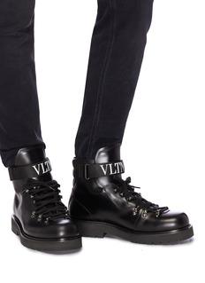 Valentino VLTN搭带小牛皮登山靴