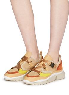 CHLOÉ Sonnie拼接设计厚底运动鞋
